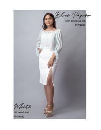 White Slit Detail Skirt