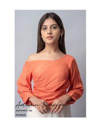 Autumn Orange asymmetric Top