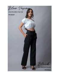 Black tab detailed trouser