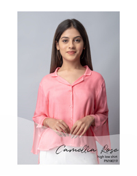 Camellia Rose high low shirt