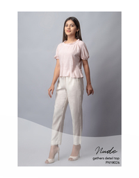 Nude gathers detail top