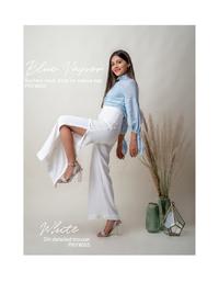 White Slit Detail Trouser