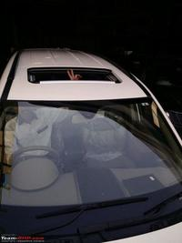 Automatic inbuilt sunroof