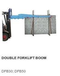 Double forklit boom