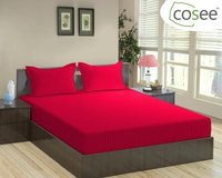 Cosee Satin Stripe King Size Bed Sheet