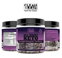 CLEAN+LEAN All Night Keto First Ever Overnight Ketogenic Fat Burner.