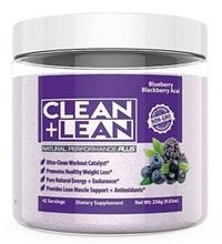 CLEAN+LEAN Natural Pre-Workout (Blue Berry, Blackberry, ACAI Flavour)