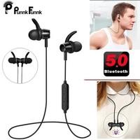 PunnkFunnk Mp3 Player Wireless Earphones Bluetooth 5.0 sport headphone with mic