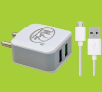 White Travel Faster Mobile Charger (Smart IC)
