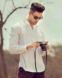 纯白色纯色衬衫