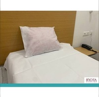 White Disposable Bed Sheet With Pillow Cover