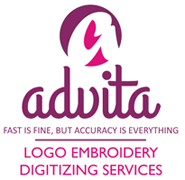 ADVITA LOGO EMBROIDERY DIGITIZING