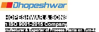 DHOPESHWAR & SONS