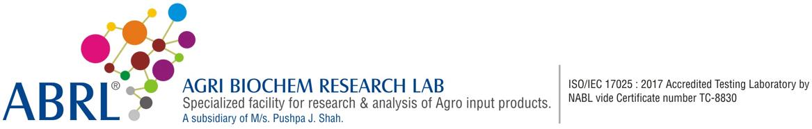 AGRI BIOCHEM RESEARCH LAB