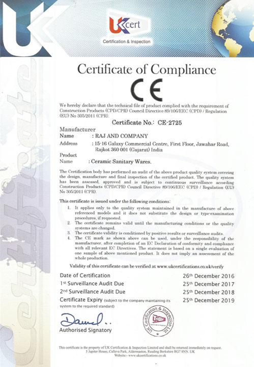 Our Certification - RAJ & COMPANY