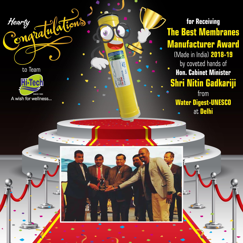 The Best Membranes Manufacturer Award 2018-19