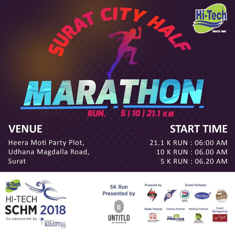 HALF MARATHON! 5K, 10K and 21.1K Run on 25th November 2018.