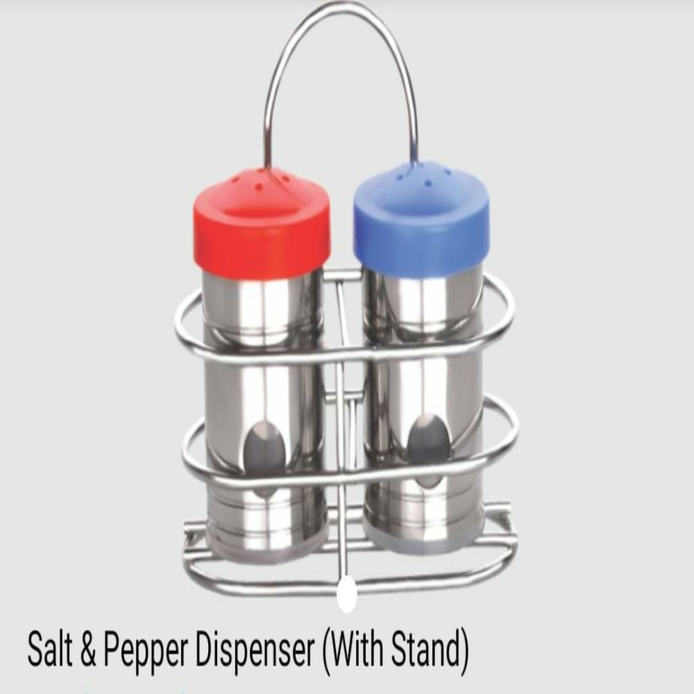 National Salt And Pepper Dispenser with Stand