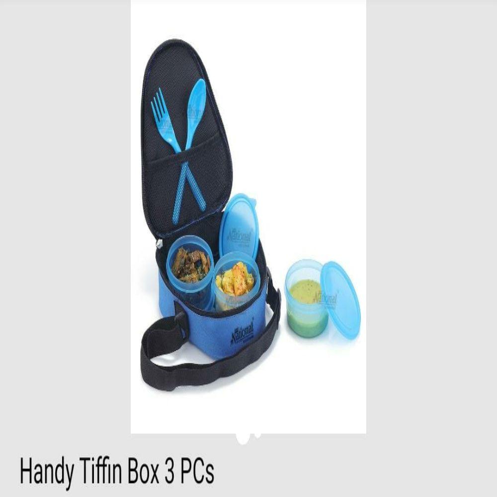 National Handy Tiffin Box 3 Pcs
