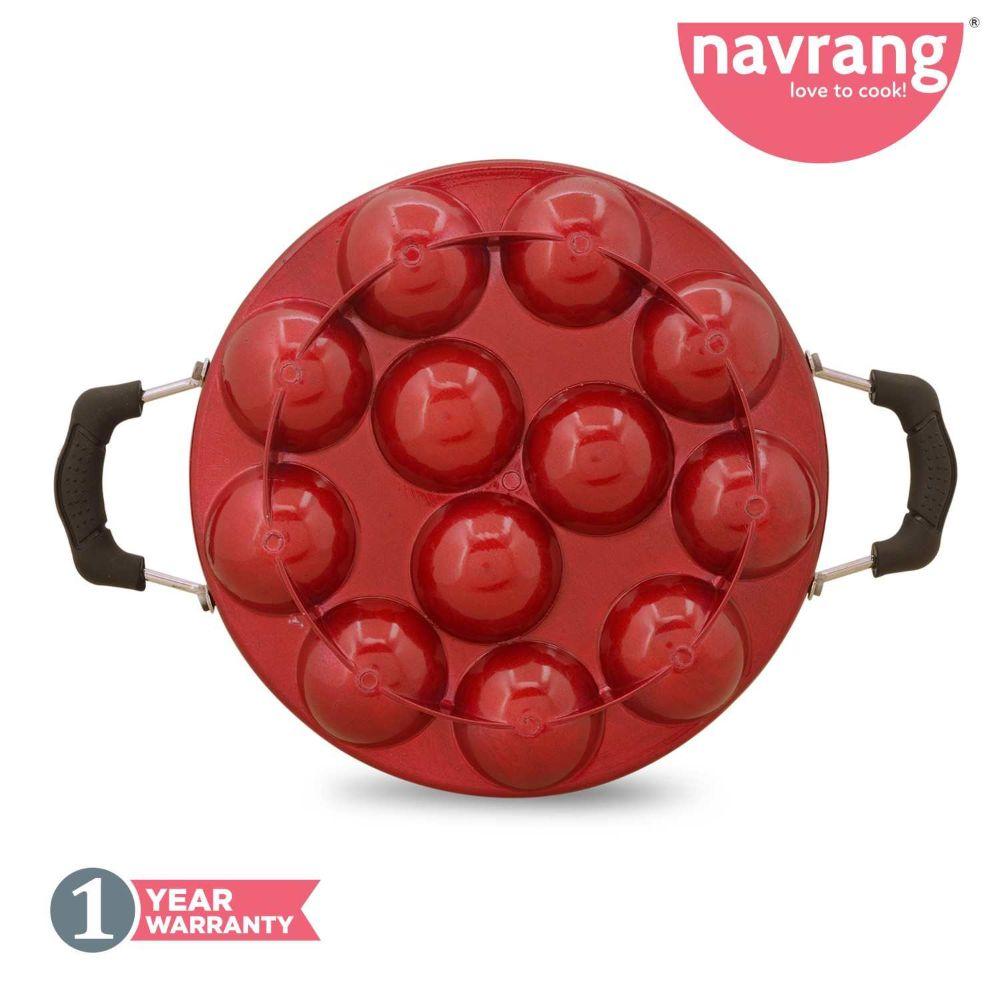 Navrang Nonstick Appakara 12 Handle With Lid Light Weight