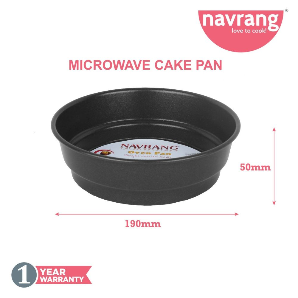 Navrang Nonstick Micro Wave Cake Pan Without Box