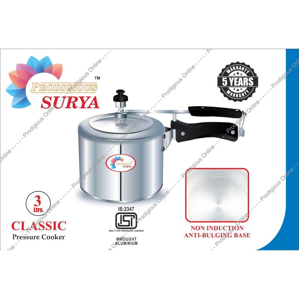 Prodigious Surya 3l Classic Pressure Cooker - Non Induction