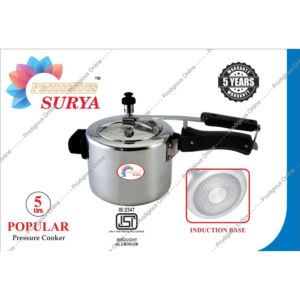 Prodigious Surya 5l Popular Pressure Cooker - Induction Base