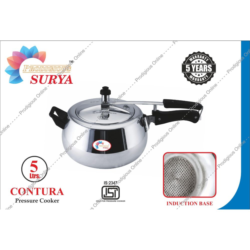 Prodigious Surya 5l Contura Pressure Cooker - Induction Base