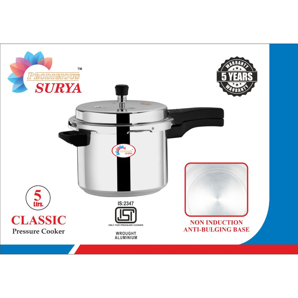 Prodigious Surya 5l Classic Pressure Cooker - Outer Lid Non Induction