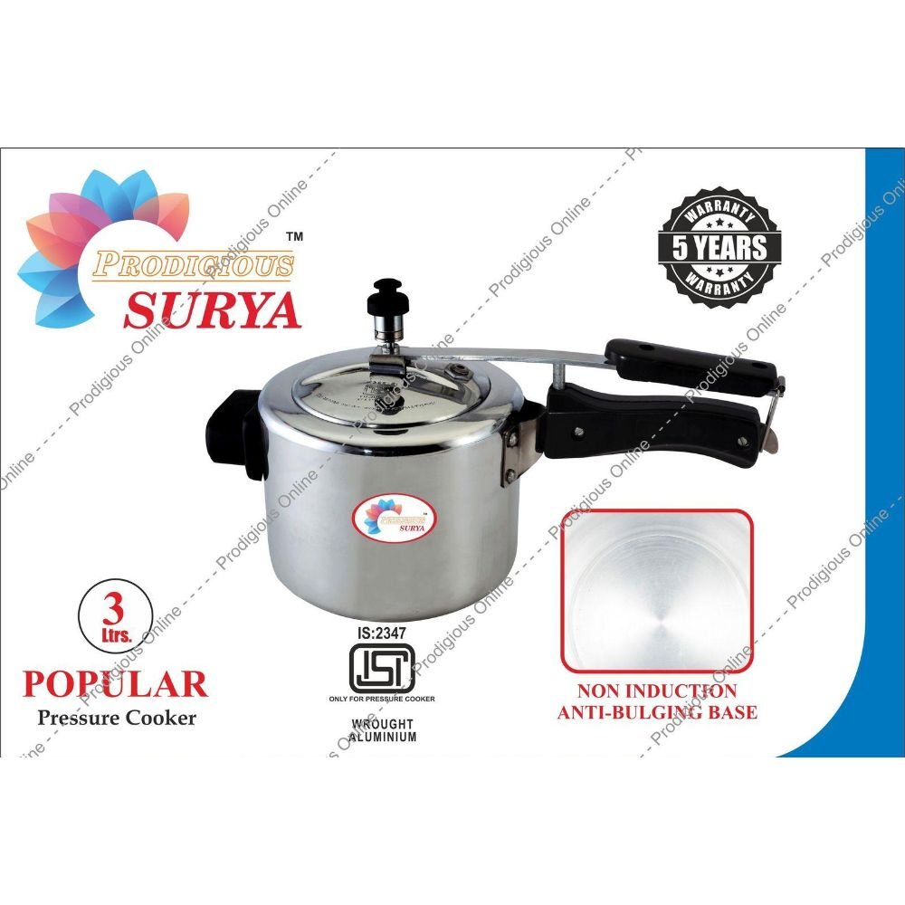 Prodigious Surya 3L Popular Pressure Cooker - Non Induction