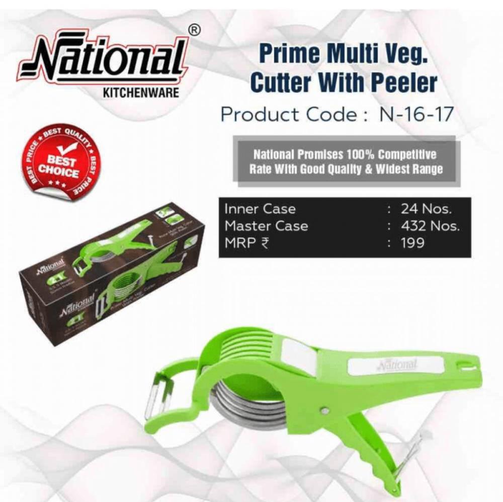 National Prime Multi veg cutter with Peeler
