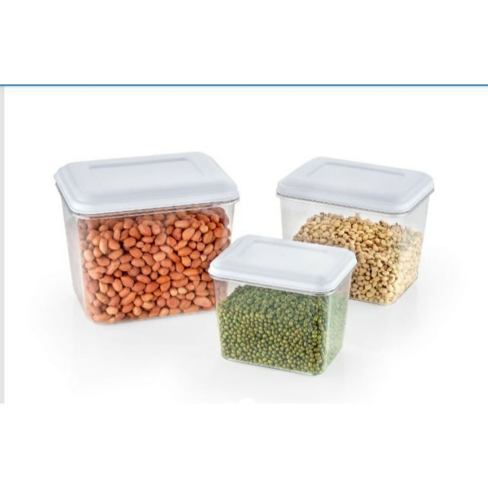 National Food Container 3 Pcs Set - 750 Ml, 1250 Ml And 2000 Ml
