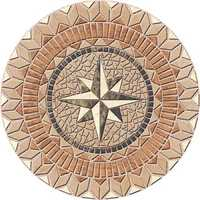 Stone floor medallions