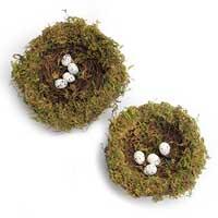 Decorative bird nest