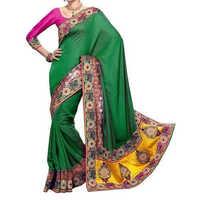 Heavy border saree