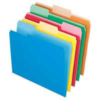 Colored file folder