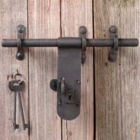 Iron door fittings