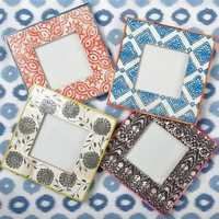 Fabric photo frame