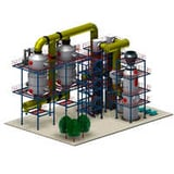 Gas cleaning plant
