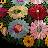Hand Embroidered Silk Fabric