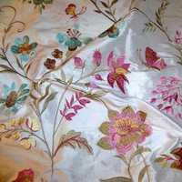 Printed Silk Dupioni Fabric