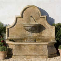 Stone wall fountain