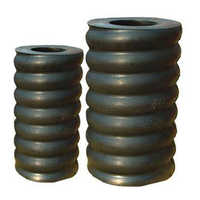Rolling rubber spring