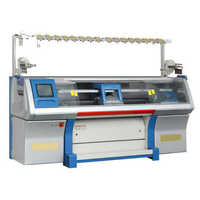 Sweater flat knitting machine