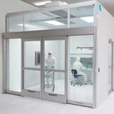 Clean room partition