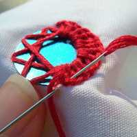Mirror embroidery