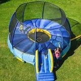 Inflatable trampoline