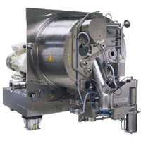 Horizontal peeler centrifuge
