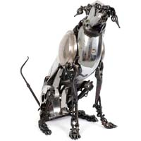 Metal animal sculptures