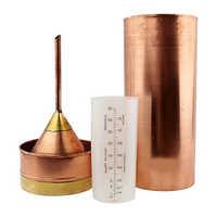 Copper rain gauge